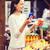 mercearia · mulher · jovem · telefone · móvel · carrinho · de · compras · mulher - foto stock © dolgachov
