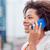 афроамериканец · деловая · женщина · телефон · портрет · связи · говорить - Сток-фото © dolgachov