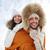 paar · buiten · winter · portret · op · de · rug - stockfoto © dolgachov