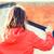 mulher · pintura · parede · melhoramento · da · casa · verde - foto stock © dolgachov