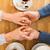 heureux · couple · mains · tenant · tricoté · mitaines - photo stock © dolgachov