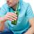 mężczyzna · znajomych · pitnej · piwa · domu - zdjęcia stock © dolgachov