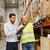 trabajador · empresarios · portapapeles · almacén · personas - foto stock © dolgachov