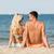 feliz · casal · sessão · verão · praia - foto stock © dolgachov