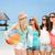 группа · улыбаясь · девочек · пляж · лет · праздников - Сток-фото © dolgachov