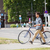vintage · italiano · estilo · bicicleta · branco · cidade - foto stock © dolgachov