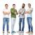 internationale · groep · gelukkig · glimlachend · mannen · vriendschap - stockfoto © dolgachov