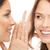 two women spreading gossip stock photo © dolgachov