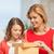 Mutter · Tochter · Bild · Geschenkbox · Mädchen · Kinder - stock foto © dolgachov