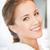 güzel · bir · kadın · beyaz · bornoz · resim · kadın · mutlu - stok fotoğraf © dolgachov