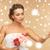 bloemen · drie · bruiloft · vrouwen · rozen - stockfoto © dolgachov
