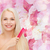 bela · mulher · cabelos · lisos · flores · belo · mulher · loira · mulher - foto stock © dolgachov