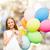 criança · voador · balões · sonhos · viajar · fundo - foto stock © dolgachov