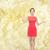 boldog · lány · kezek · tart · valami · egészalakos · portré - stock fotó © dolgachov