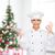 vrouwelijke · chef · lege · plaat · tonen - stockfoto © dolgachov