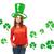 heureux · jour · de · St · Patrick · Shamrock · laisse · vert · couleur - photo stock © dolgachov
