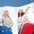 iki · kadın · arkadaşlar · kış · kar · dağlar - stok fotoğraf © dolgachov