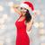 美しい · セクシーな女性 · サンタクロース · 帽子 · 赤いドレス · 人 - ストックフォト © dolgachov