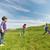 groep · gelukkig · kinderen · lopen · buitenshuis · zomer - stockfoto © dolgachov