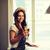 девушки · коктейль · сидят · Бар · привлекательный · чувственный - Сток-фото © dolgachov