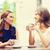twee · mooie · vrolijk · jonge · vrouwen · drinken · koffie - stockfoto © dolgachov