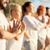 hombre · pilates · playa · verano · yoga · entrenamiento - foto stock © dolgachov