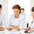 üzleti · csapat · dolgozik · tabletta · iroda · üzlet · mosolyog - stock fotó © dolgachov