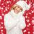 beleza · inverno · seis · flocos · de · neve · retrato · menina - foto stock © dolgachov