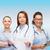 笑みを浮かべて · クリップボード · 病院 · 女性 - ストックフォト © dolgachov
