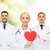 souriant · médecins · coeur · santé · médicaux · deux - photo stock © dolgachov