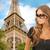 美少女 · ビッグ · 黒 · 眼鏡 · 肖像 - ストックフォト © dolgachov