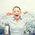 деловая · женщина · кричали · закрыто · ушки · бизнеса · эмоций - Сток-фото © dolgachov