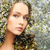 young woman over blooming tree pattern stock photo © dolgachov