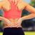 スポーティー · 女性 · 触れる · 戻る · フィットネス - ストックフォト © dolgachov