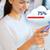 close up of woman with smartphone cloud computing stock photo © dolgachov