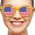 vrouw · Amerikaanse · vlag · jong · meisje · buitenshuis · meisje - stockfoto © dolgachov