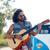 muziek · instrumentaal · gitaar · auto · outdoor · vintage - stockfoto © dolgachov