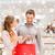 feliz · casal · vermelho · pessoas · venda - foto stock © dolgachov