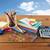 materiały · biurowe · szkła · odizolowany · biały · pióro · pomarańczowy - zdjęcia stock © dolgachov