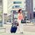 счастливым · африканских · женщину · путешествия · сумку · смартфон - Сток-фото © dolgachov