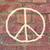 geschilderd · vrede · teken · meisjes · hand · oorlog - stockfoto © dolgachov