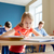 student girl with book writing school test stock photo © dolgachov