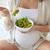 heureux · femme · enceinte · lit · maison · grossesse - photo stock © dolgachov