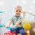 pequeno · menino · condução · brinquedo · carro · feliz - foto stock © dolgachov