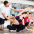 groupe · jeunes · femmes · Homme · instructeur · fitness - photo stock © dolgachov