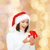 vrouw · helper · hoed · klein · geschenkdoos - stockfoto © dolgachov