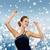 улыбающаяся · женщина · танцы · поднятыми · руками · люди · вечеринка · праздников - Сток-фото © dolgachov