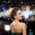улыбающаяся · женщина · вечернее · платье · люди · праздников · Рождества · гламур - Сток-фото © dolgachov