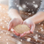 close up of female cupped hands with quinoa stock photo © dolgachov