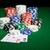 póker · zsetonok · ki · zöld · felület · közelkép · hazárdjáték - stock fotó © dolgachov